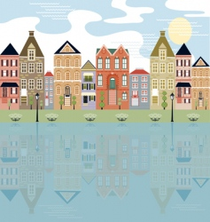 city with water view vector image vector image