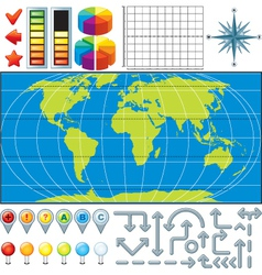 Infographics Global Business Finance vector image vector image