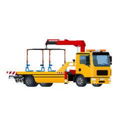 isolated yellow tow truck vector image