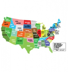 map of states of america vector image vector image