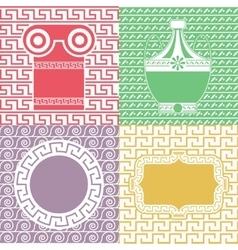 Vintage frames line seamless background for party vector image