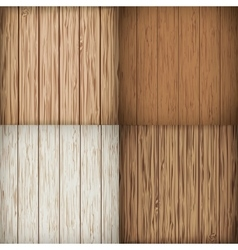 Wooden background set vector image