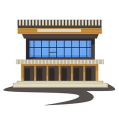 1980s style architecture vintage building vector