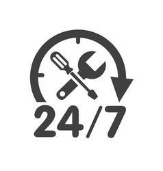 24 7 car service logo vector image