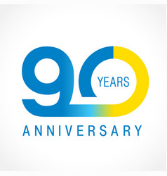 90 anniversary classic logo vector