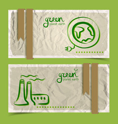 abstract eco banners set vector image