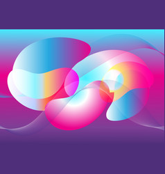 abstract fantasy multicolored transparent vector image