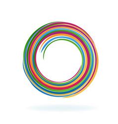 Abstract spiral circle vector