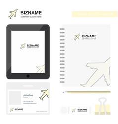 aeroplane business logo tab app diary pvc vector image