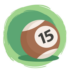 Billiard ball number 15 brown vector