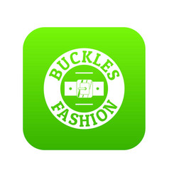 Buckle fashion icon green vector