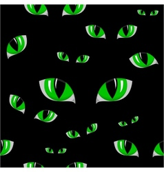 Cat green eye seamless texture vector image