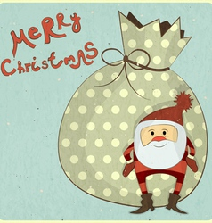 Christmas cards with cartoon santa vector