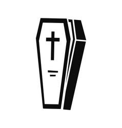 coffin icon simple style vector image
