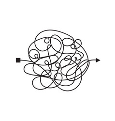 Confused complicated way as chaos or problem vector