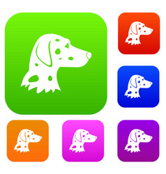 Dalmatians dog set collection vector