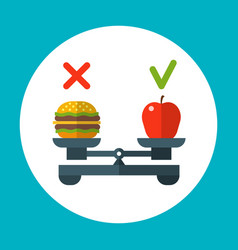 diet food balance healthy concept with vector image