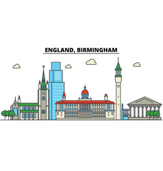 England birmingham city skyline architecture vector