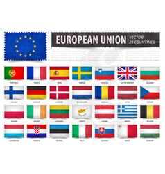 european union eu and membership country flag vector image