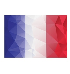 Flag france low poly vector