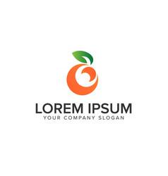 fruit orange logo design concept template vector image