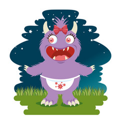 funny dragon cartoon vector image