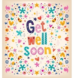Get well soon card 2 vector