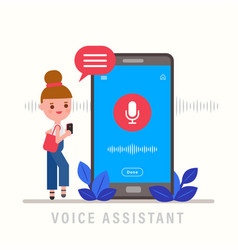 girl talking on phone personal assistant vector image