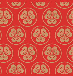 gold orange seamless pattern japanise vector image