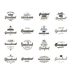 Greeting cards design isolated logos typography vector