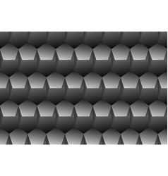 grey embossed pattern plastic pentagon grid vector image