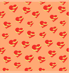 heart hug seamless pattern flat hearts and hands vector image