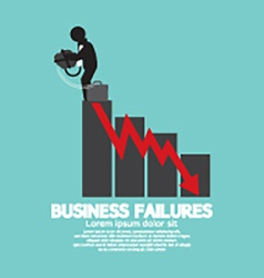 Hopeless Man With Business Failures Concept vector