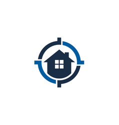 house target logo icon design vector image