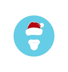 Icon Colorful Santa Claus Face vector