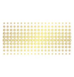 insemination golden halftone matrix vector image