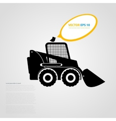 isolated tractor icons silhouettes vector image