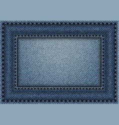 Jeans frame with stitches vector