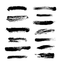 monochrome set hand drawn smears and strokes vector image
