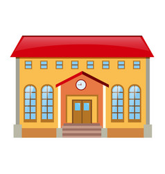 Museum building with red roof vector
