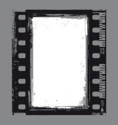 Negative grunge frame vector