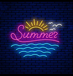 neon summer sign vector image