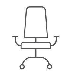 office chair thin line icon furniture and office vector image