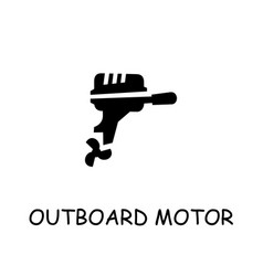 Outboard motor flat icon vector