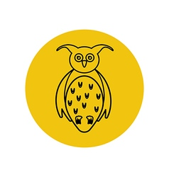 Owl silhouette vector image