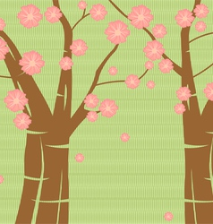 Pink blossom floral pattern background vector image