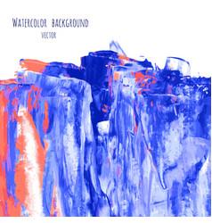 Pink blue watercolor texture vector