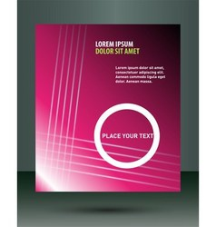 Pink flyer brochure vector