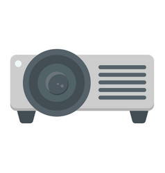 Projector flat icon presentation and meeting vector