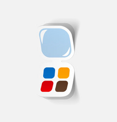 Realistic paper sticker eye shadow vector